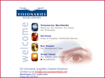 Visionaries Worldwide website